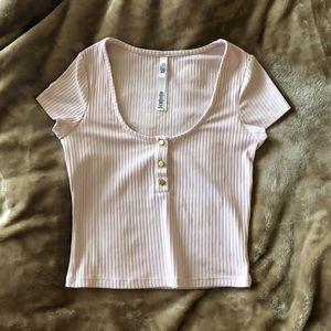 Victoria's Secret Sport Button Ribbed Top Shirt XS